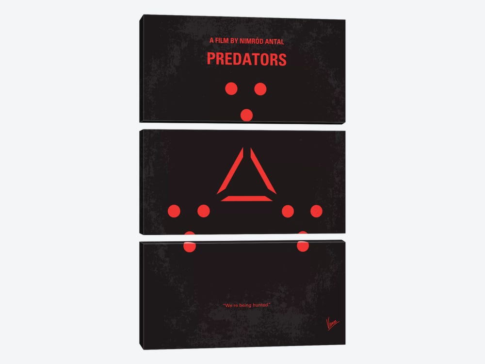 Predators Minimal Movie Poster by Chungkong 3-piece Canvas Artwork