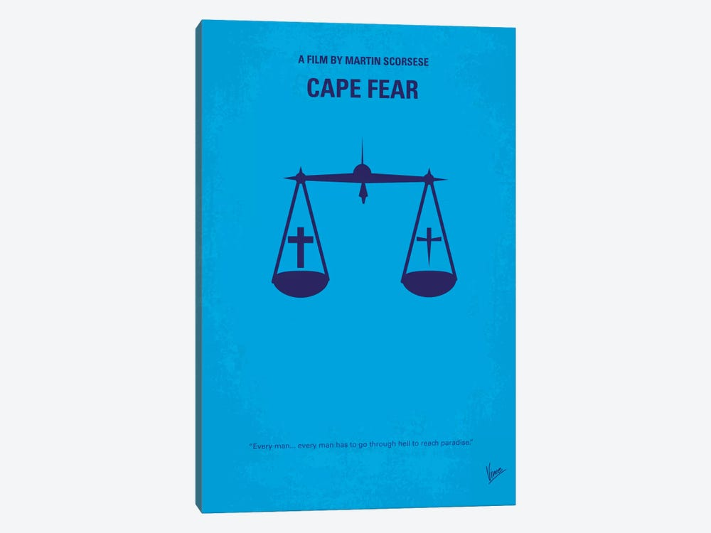 Cape Fear Minimal Movie Poster by Chungkong 1-piece Canvas Artwork
