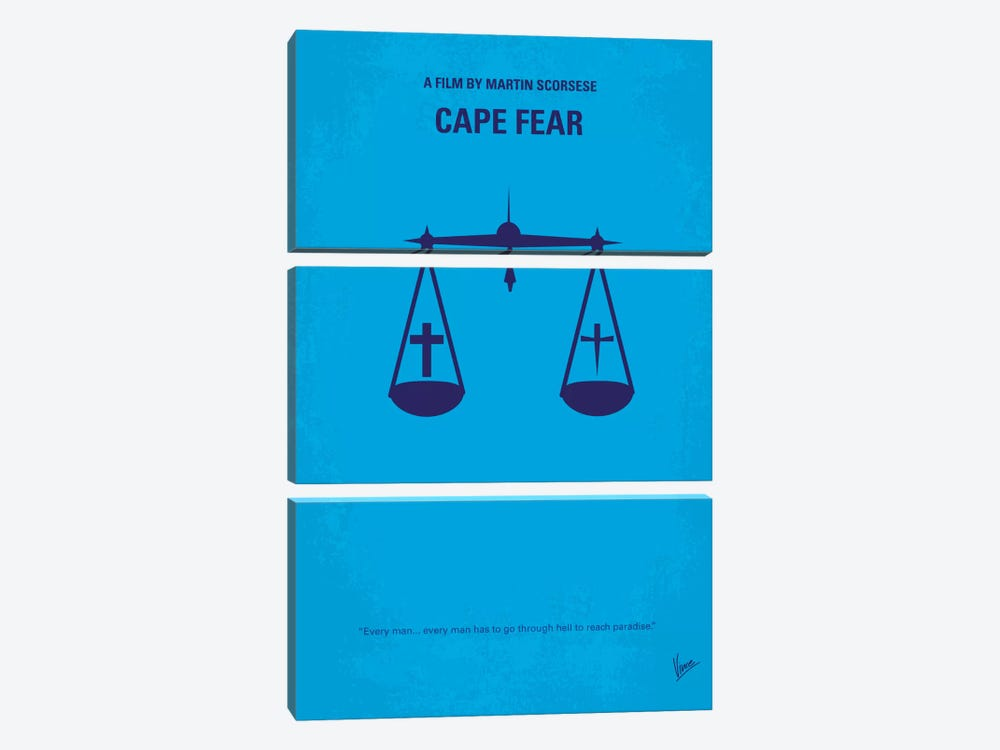 Cape Fear Minimal Movie Poster by Chungkong 3-piece Canvas Artwork