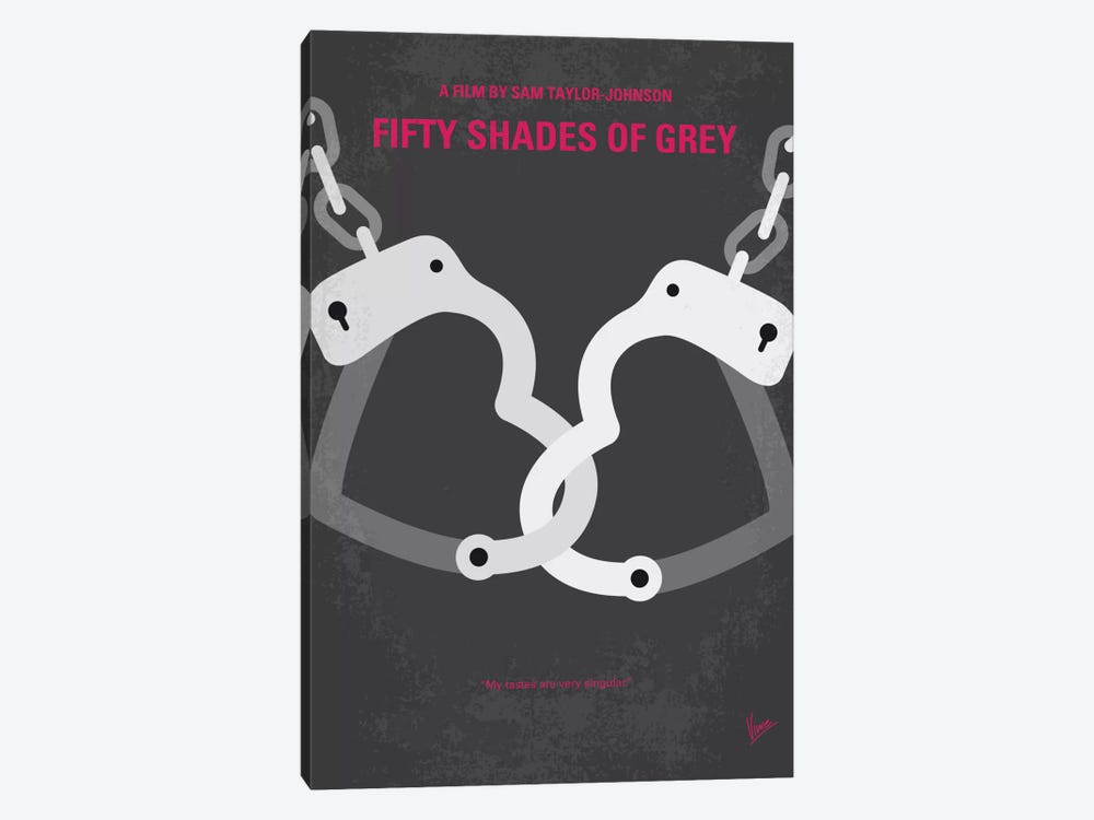 Fifty Shades Of Grey Minimal Movie Poster by Chungkong 1-piece Art Print