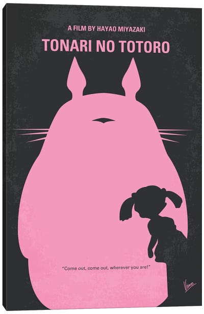 My Neighbor Totoro Minimal Movie Poster Canvas Art Print