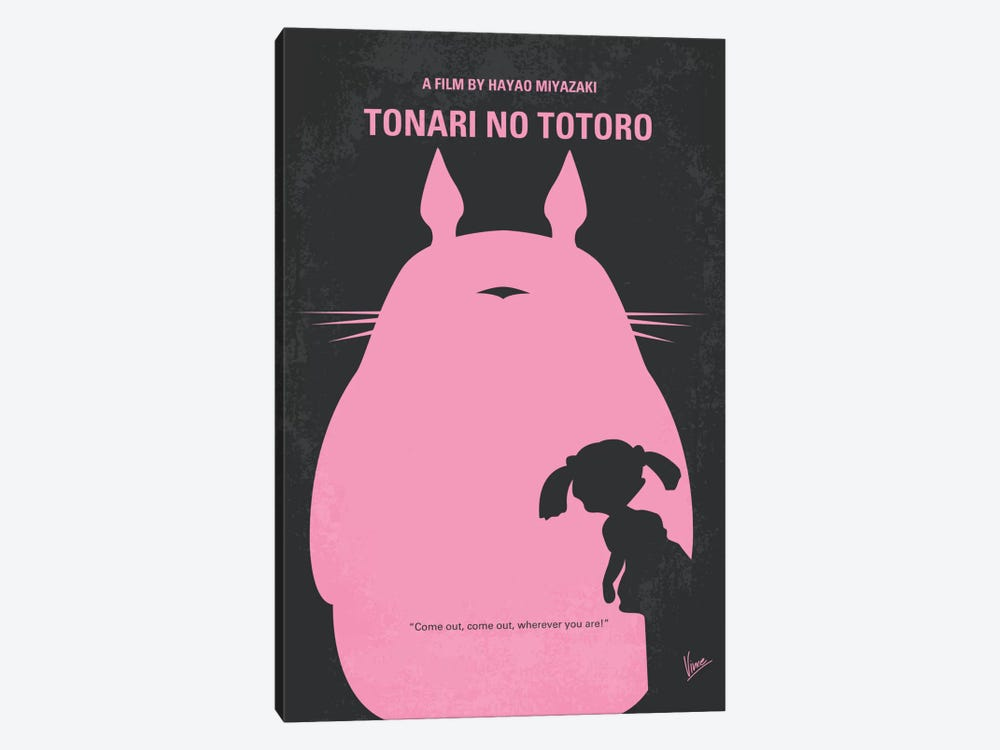 My Neighbor Totoro Minimal Movie Poster 1-piece Canvas Print