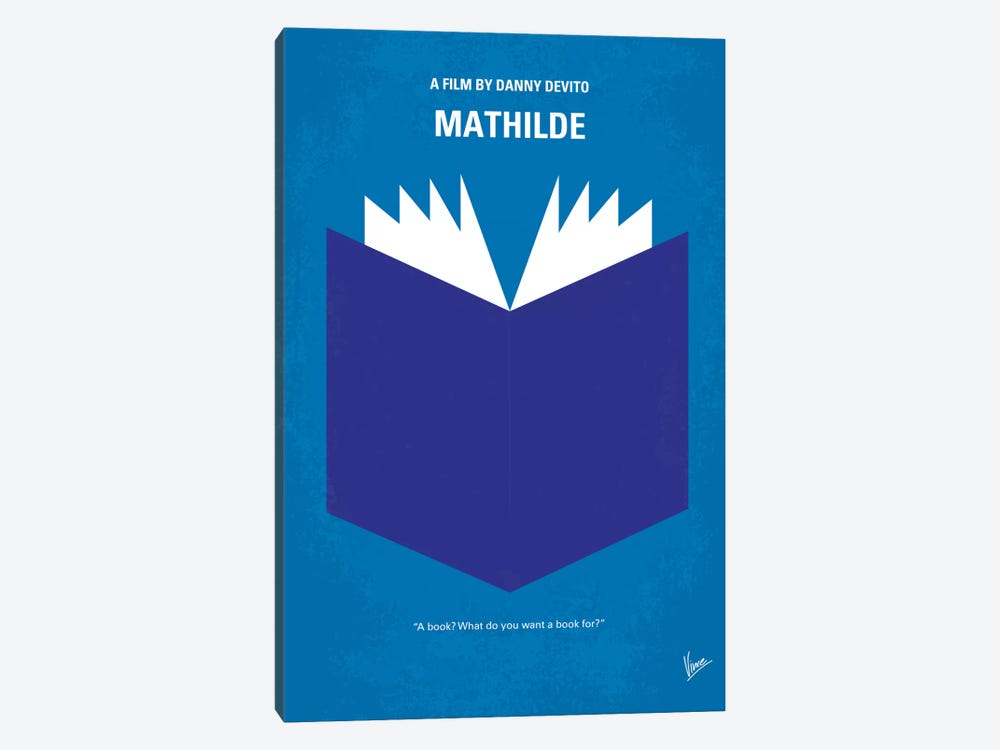 Mathilde Minimal Movie Poster by Chungkong 1-piece Canvas Wall Art
