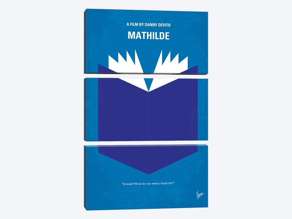 Mathilde Minimal Movie Poster by Chungkong 3-piece Canvas Art