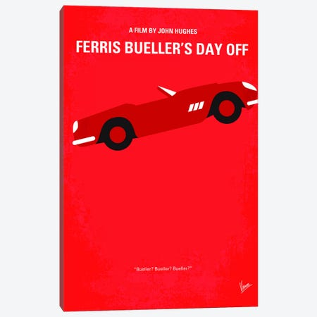 Ferris Bueller's Day Off Minimal Movie Poster Canvas Print #CKG302} by Chungkong Canvas Wall Art