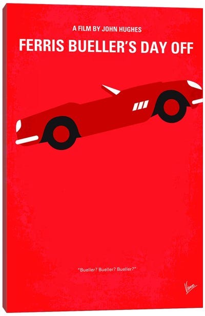 Ferris Bueller's Day Off Minimal Movie Poster by Chungkong - Minimalist Movie Posters Canvas Art Print