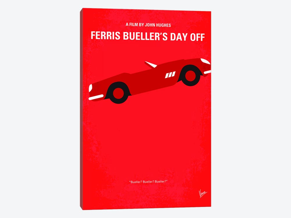 Ferris Bueller's Day Off Minimal Movie Poster by Chungkong 1-piece Art Print