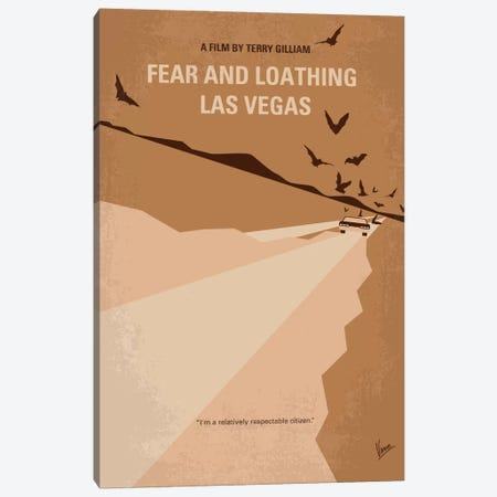 Fear And Loathing Las Vegas Minimal Movie Poster Canvas Print #CKG303} by Chungkong Canvas Wall Art