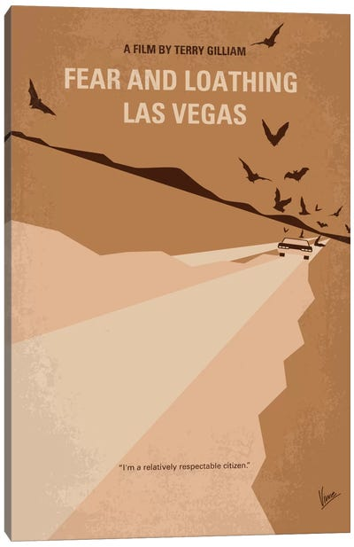 Fear And Loathing Las Vegas Minimal Movie Poster Canvas Art Print