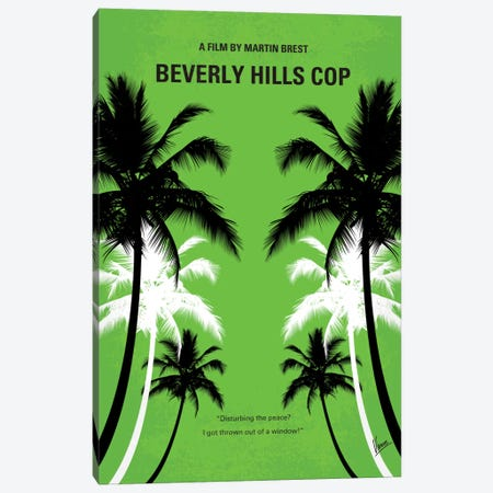 Beverly Hills Cop Minimal Movie Poster Canvas Print #CKG304} by Chungkong Art Print