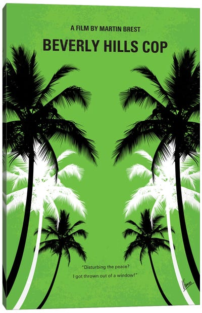 Beverly Hills Cop Minimal Movie Poster Canvas Print #CKG304