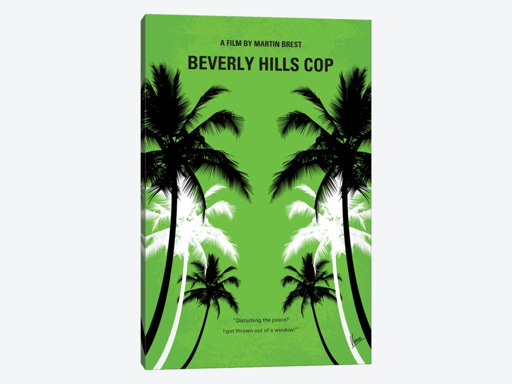 Beverly Hills Cop Minimal Movie Poster by Chungkong 1-piece Art Print