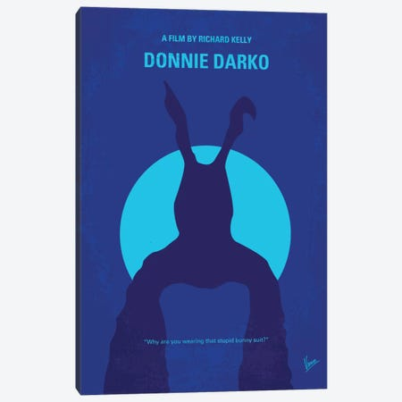 Donnie Darko Minimal Movie Poster Canvas Print #CKG305} by Chungkong Art Print