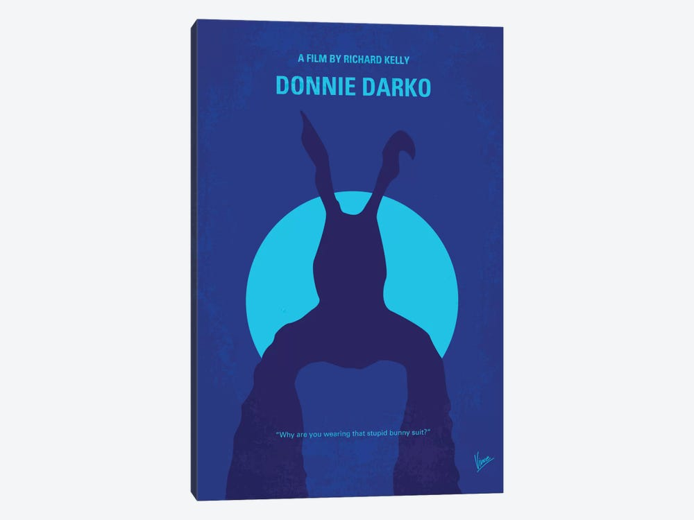 Donnie Darko Minimal Movie Poster by Chungkong 1-piece Canvas Wall Art