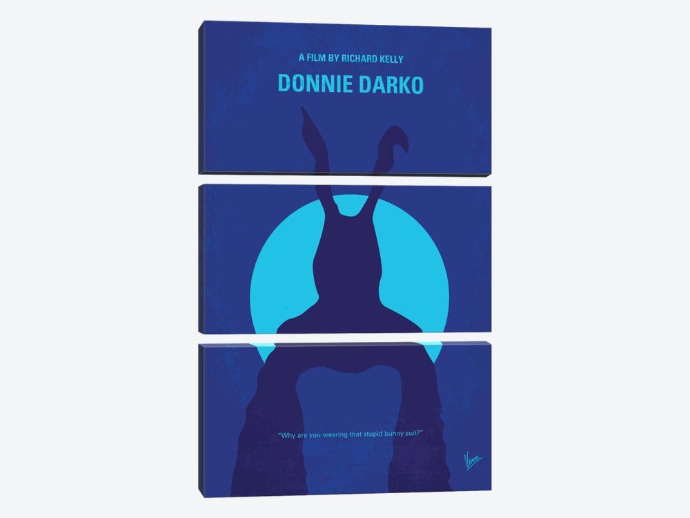 Donnie Darko Minimal Movie Poster by Chungkong 3-piece Canvas Wall Art