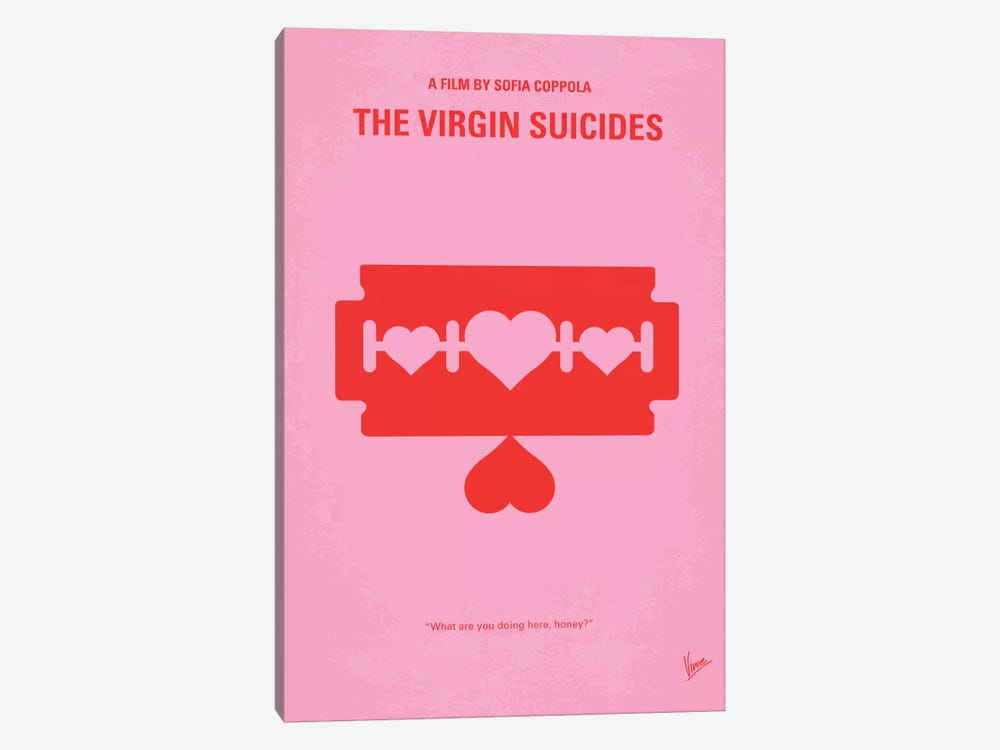 The Virgin Suicides Minimal Movie Poster by Chungkong 1-piece Canvas Wall Art