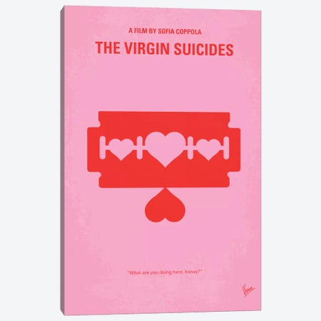The Virgin Suicides Minimal Movie Poster Canvas Print #CKG307} by Chungkong Canvas Art Print