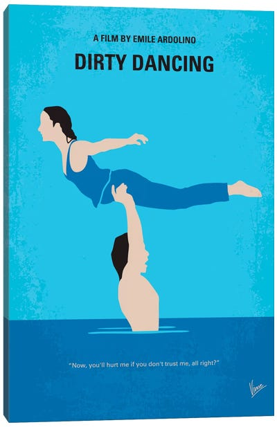 Dirty Dancing Minimal Movie Poster Canvas Art Print