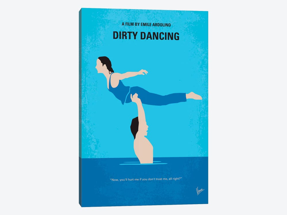 Dirty Dancing Minimal Movie Poster by Chungkong 1-piece Canvas Art Print
