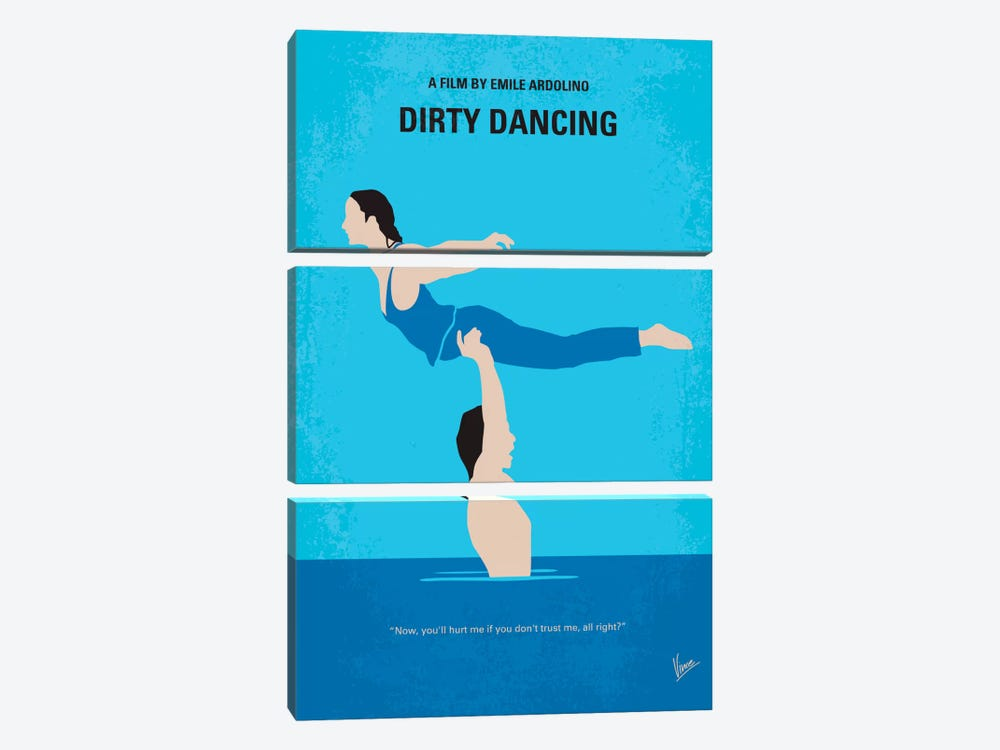 Dirty Dancing Minimal Movie Poster by Chungkong 3-piece Art Print