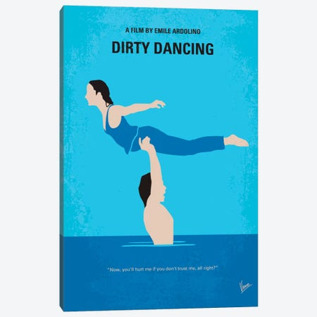 Dirty Dancing Minimal Movie Poster Canvas Print #CKG308} by Chungkong Canvas Wall Art