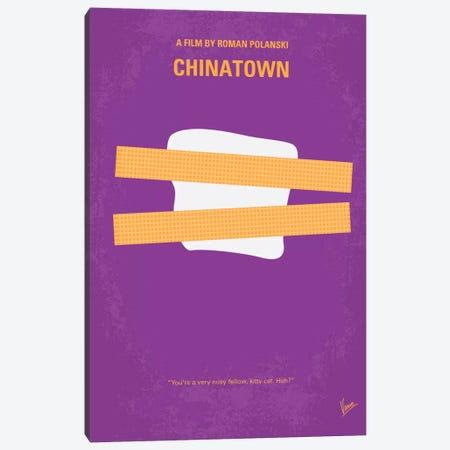 Chinatown Minimal Movie Poster Canvas Print #CKG30} by Chungkong Canvas Artwork