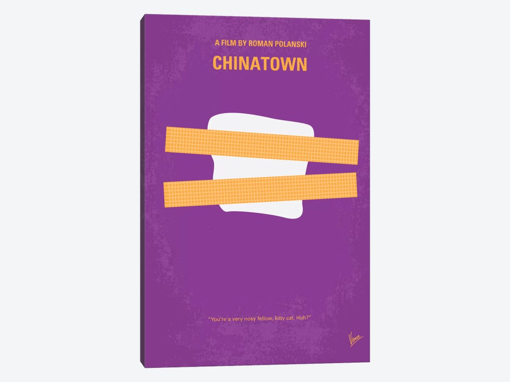 Chinatown Minimal Movie Poster by Chungkong 1-piece Canvas Wall Art