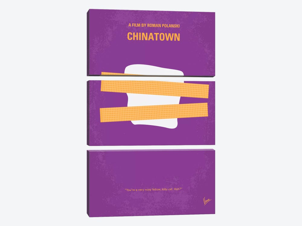 Chinatown Minimal Movie Poster by Chungkong 3-piece Canvas Wall Art