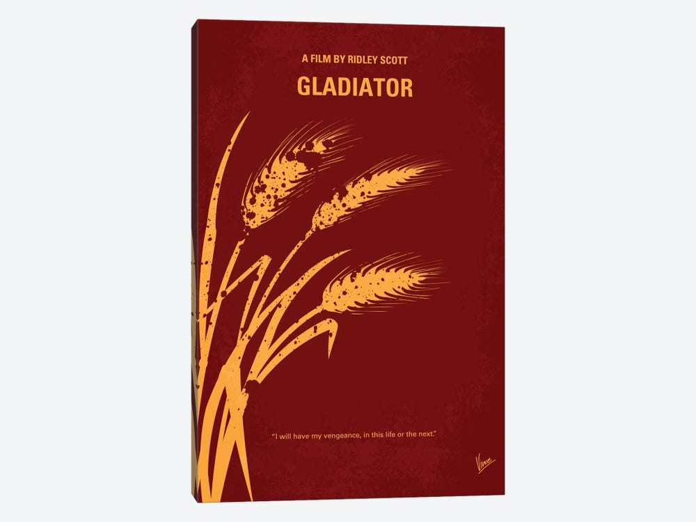 Gladiator Minimal Movie Poster by Chungkong 1-piece Canvas Art
