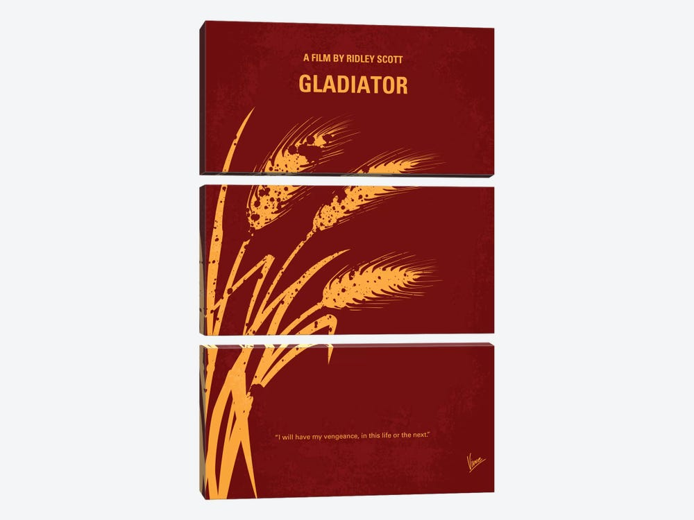 Gladiator Minimal Movie Poster by Chungkong 3-piece Canvas Art