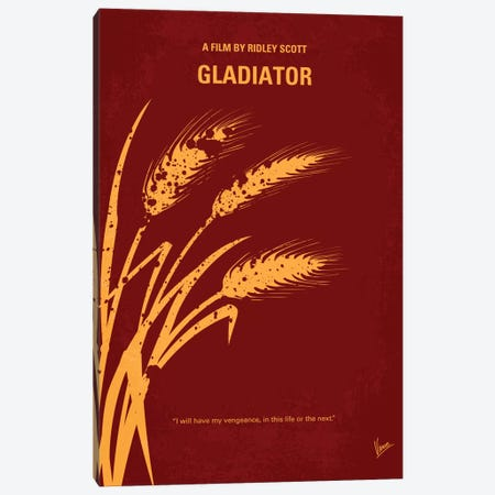 Gladiator Minimal Movie Poster Canvas Print #CKG310} by Chungkong Art Print