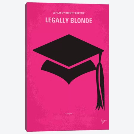 Legally Blonde Minimal Movie Poster Canvas Print #CKG311} by Chungkong Art Print