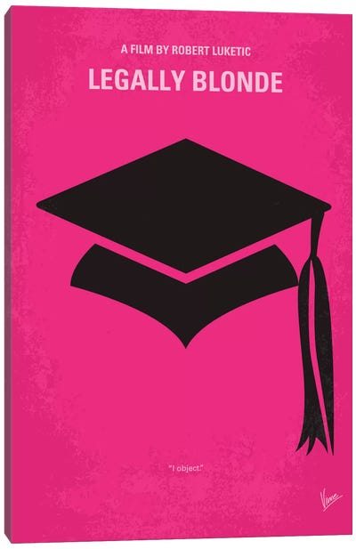 Legally Blonde Minimal Movie Poster Canvas Art Print