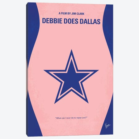 Debbie Does Dallas Minimal Movie Poster Canvas Print #CKG312} by Chungkong Art Print