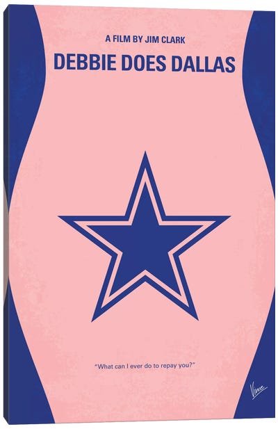 Debbie Does Dallas Minimal Movie Poster Canvas Art Print