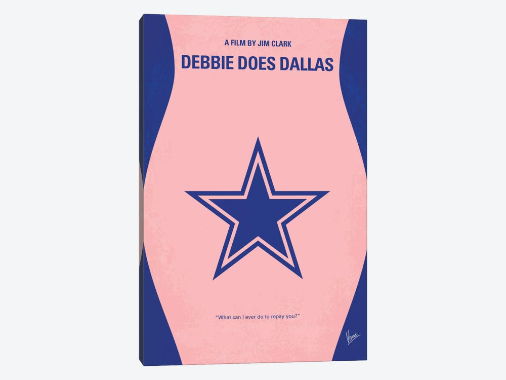 Debbie Does Dallas Minimal Movie Poster by Chungkong 1-piece Canvas Artwork