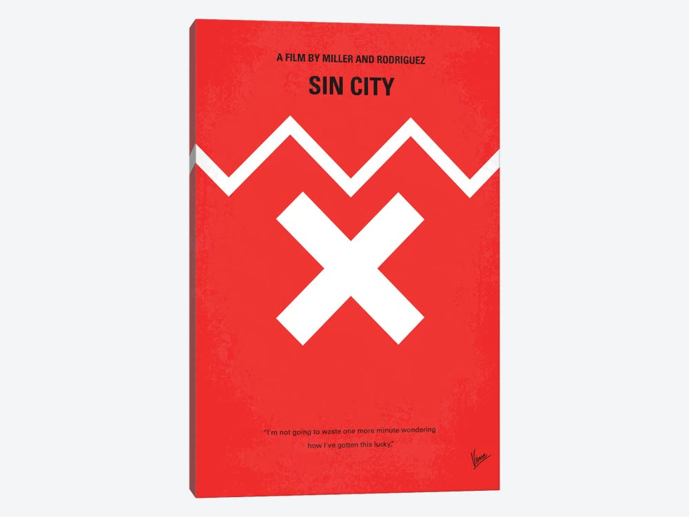 Sin City Minimal Movie Poster by Chungkong 1-piece Canvas Artwork