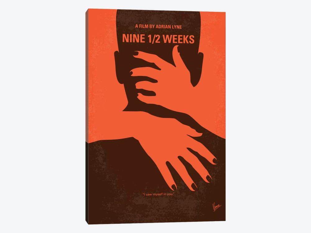Nine 1/2 Weeks Minimal Movie Poster by Chungkong 1-piece Canvas Print