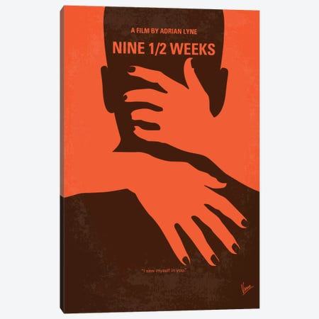 Nine 1/2 Weeks Minimal Movie Poster Canvas Print #CKG315} by Chungkong Canvas Wall Art