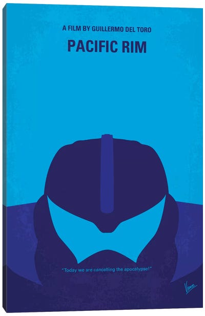 Pacific Rim Minimal Movie Poster Canvas Art Print