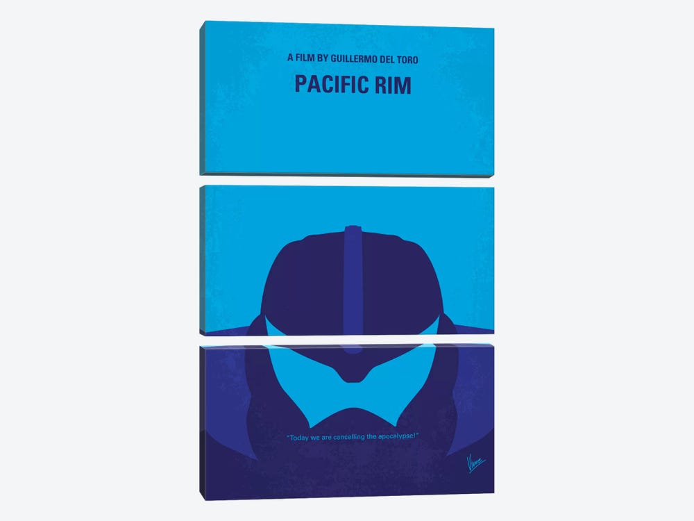 Pacific Rim Minimal Movie Poster by Chungkong 3-piece Canvas Artwork