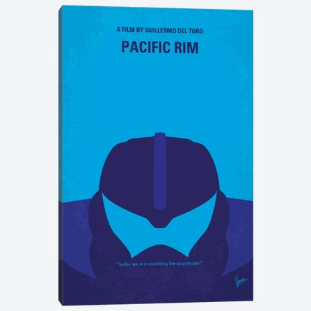 Pacific Rim Minimal Movie Poster Canvas Print #CKG316} by Chungkong Canvas Art