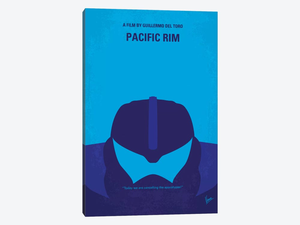 Pacific Rim Minimal Movie Poster by Chungkong 1-piece Canvas Art