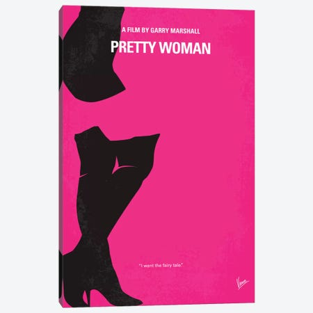 Pretty Woman Minimal Movie Poster Canvas Print #CKG317} by Chungkong Canvas Art