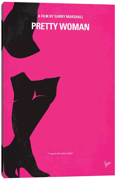 Pretty Woman Minimal Movie Poster Canvas Art Print