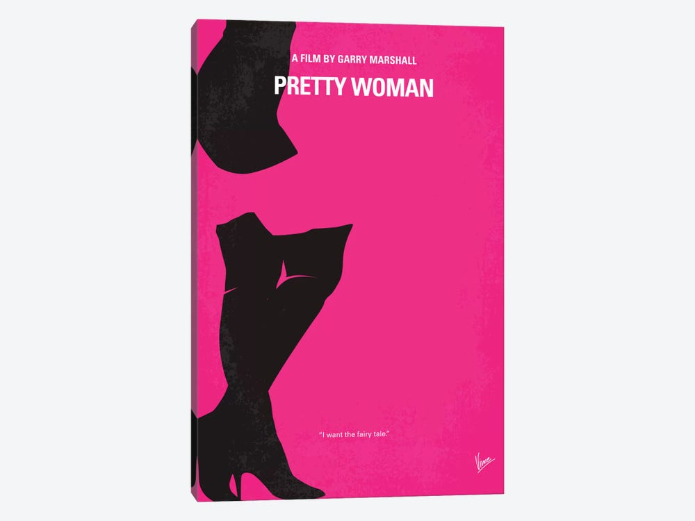 Pretty Woman Minimal Movie Poster by Chungkong 1-piece Canvas Print