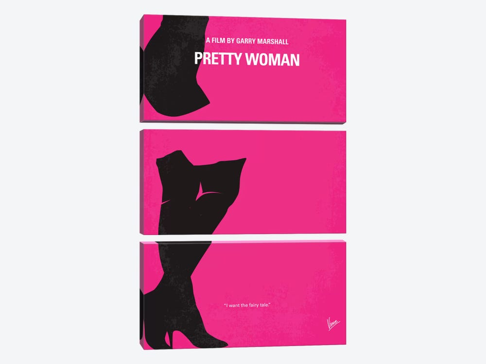 Pretty Woman Minimal Movie Poster by Chungkong 3-piece Art Print