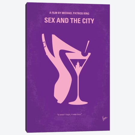 Sex And The City Minimal Movie Poster Canvas Print #CKG318} by Chungkong Canvas Print