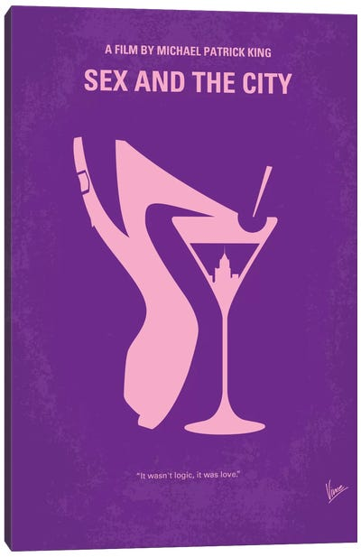 Sex And The City Minimal Movie Poster Canvas Art Print