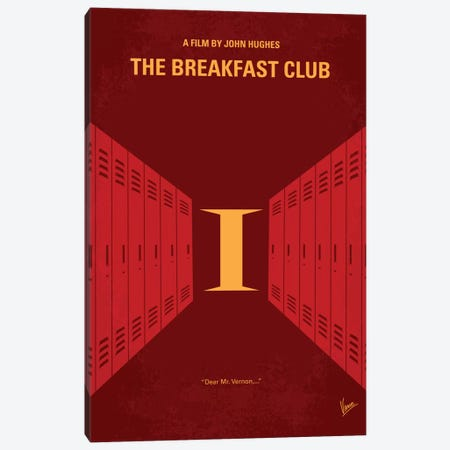 The Breakfast Club Minimal Movie Poster Canvas Print #CKG319} by Chungkong Canvas Art Print